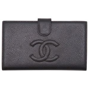 Chanel Black Caviar Leather Wallet